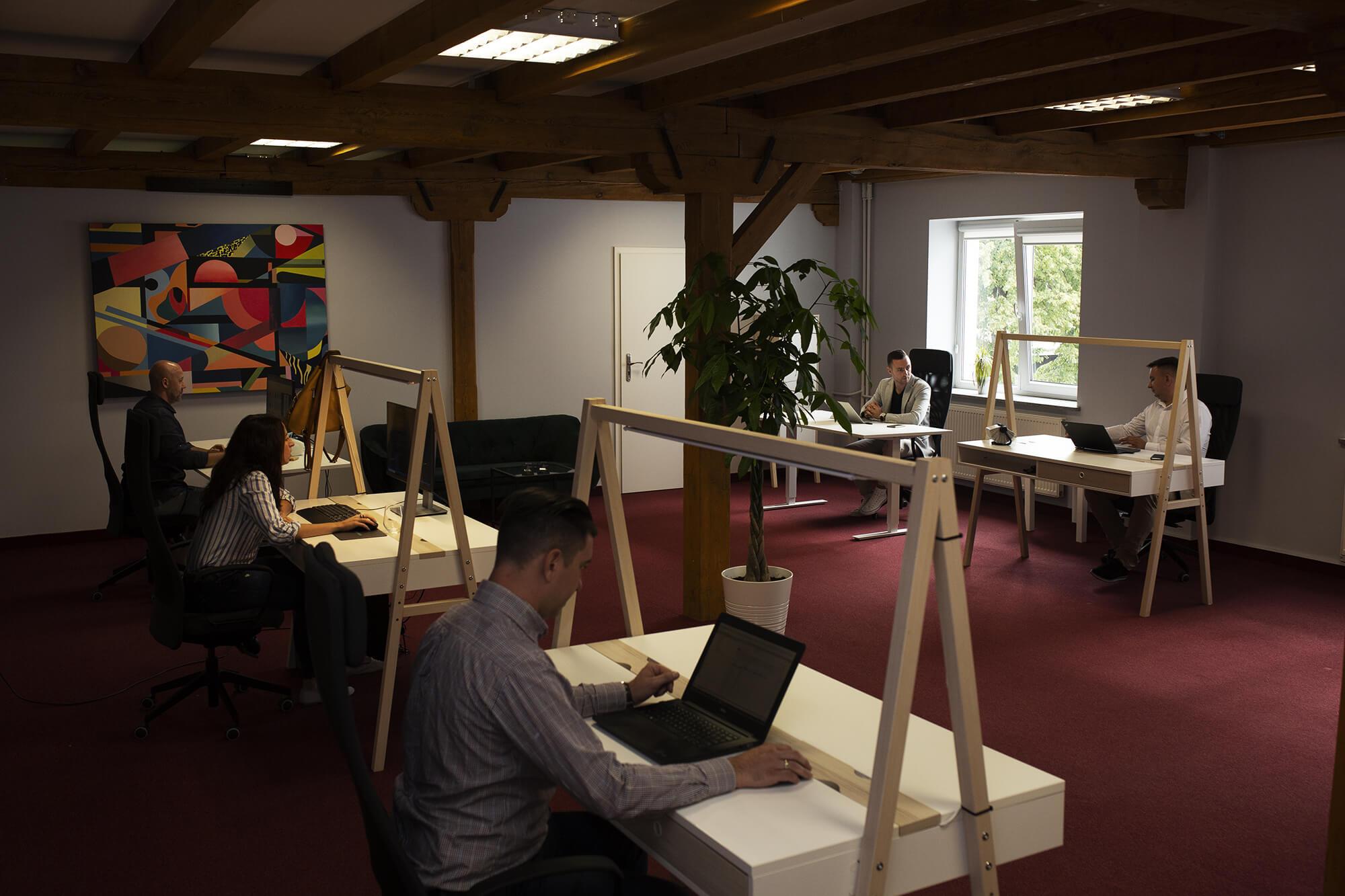 Biuro łódzkiej agencji interaktywnej Webemo przy ul. Legionów 119
